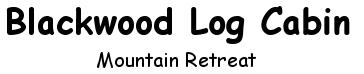 Blackwood Log Cabin - logo